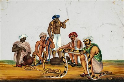 Lot 16 - Company School. Set of 16 Indian mica paintings, possibly Madras or environs, c.1850-80
