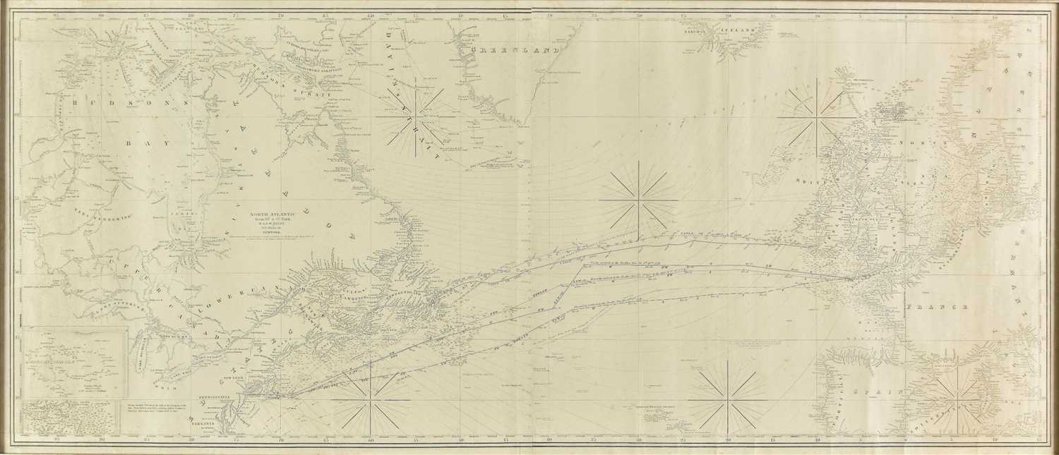 Lot 1-Atlantic Ocean. Blunt (E. & G. W.), North Atlantic..., 1867