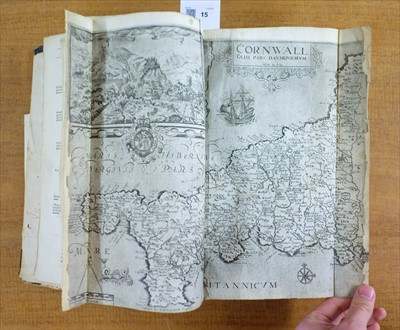 Lot 15-Camden (William). Britain or a Chorographicall description..., 1610