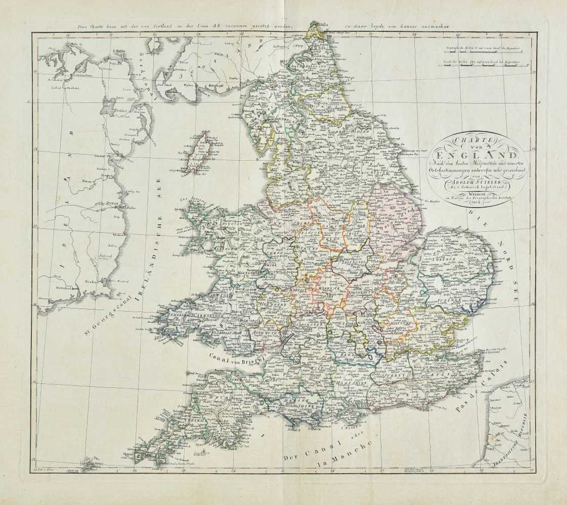 Lot 11-British Isles. A collection of eighteen maps, mostly 18th & 19th century