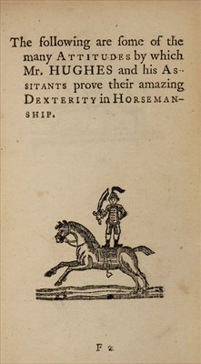 Lot 572 - Newbery (Francis, publisher). The Compleat Horseman, by Charles Hughes, 1st edition, 1772