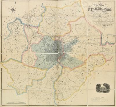 Lot 7 - Birmingham. Blood (Charles Henry), Map of Birmingham, 1859