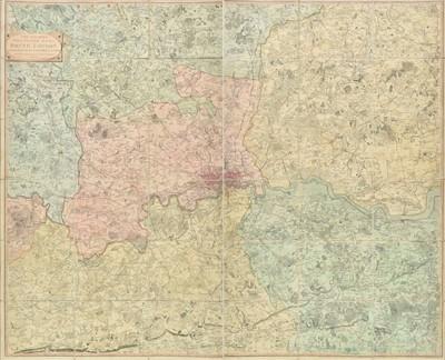 Lot 52 - London. Faden (William), The Country Twenty-five miles round London, 1815