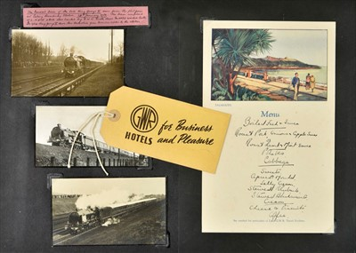 Lot 409 - Railway ephemera. An extensive collection of Great Western Railway ephemera