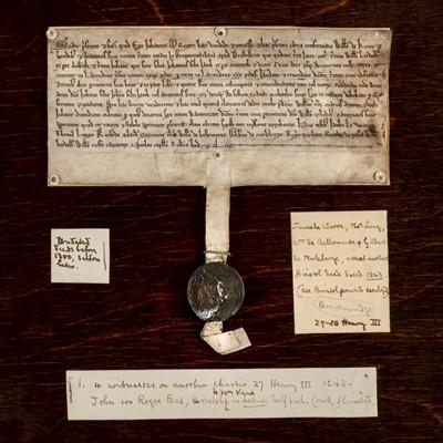Lot 401 - Medieval deed: Gropecunt Lane, Bristol, c. 1240