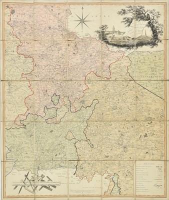 Lot 8 - Birmingham. Sherriff (James), A map of 25 miles round Birmingham, 1796