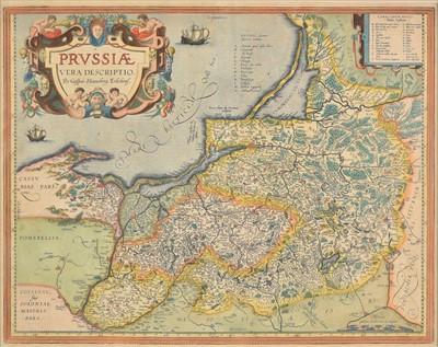 Lot 69 - Poland. Ortelius (Abraham), Prussiae vera descriptio, per Gaspar Henneberg Erlichens, circa 1612