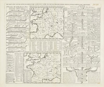 Lot 17 - Chatelain (Henri Abraham). Twenty dynastic and heraldic charts and maps, circa 1720