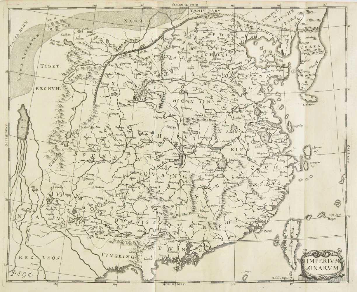 Lot 19-China. Haffner (Melchior), Imperium Sinarum, Augsburg, circa 1688