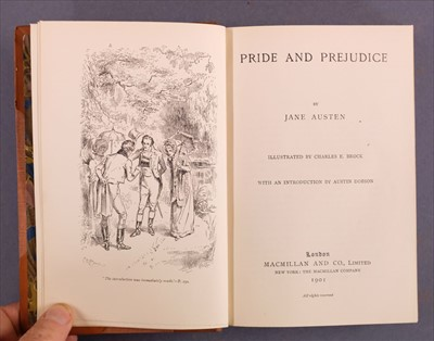 Lot 526-Austen (Jane). [The Novels],  illustrated by Hugh Thomson and Charles E. Brock, 1899-1901