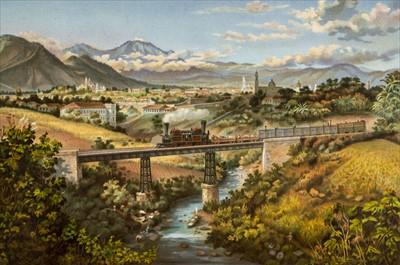 Lot 11 - Castro (Casimiro). Album del Ferrocarril Mexicano, 1st edition, Mexico, 1877