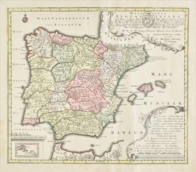 Lot 80 - Spain & Portugal. Seutter (Matthaus), Hispania Augustiniana.., circa 1725
