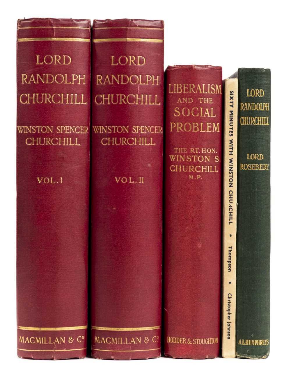 Churchill (Winston Spencer). Lord Randolph Churchill, 2 volumes, 1st...