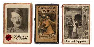 Lot 546 - Playing cards. Three scarce decks of WWI and WWII playing cards
