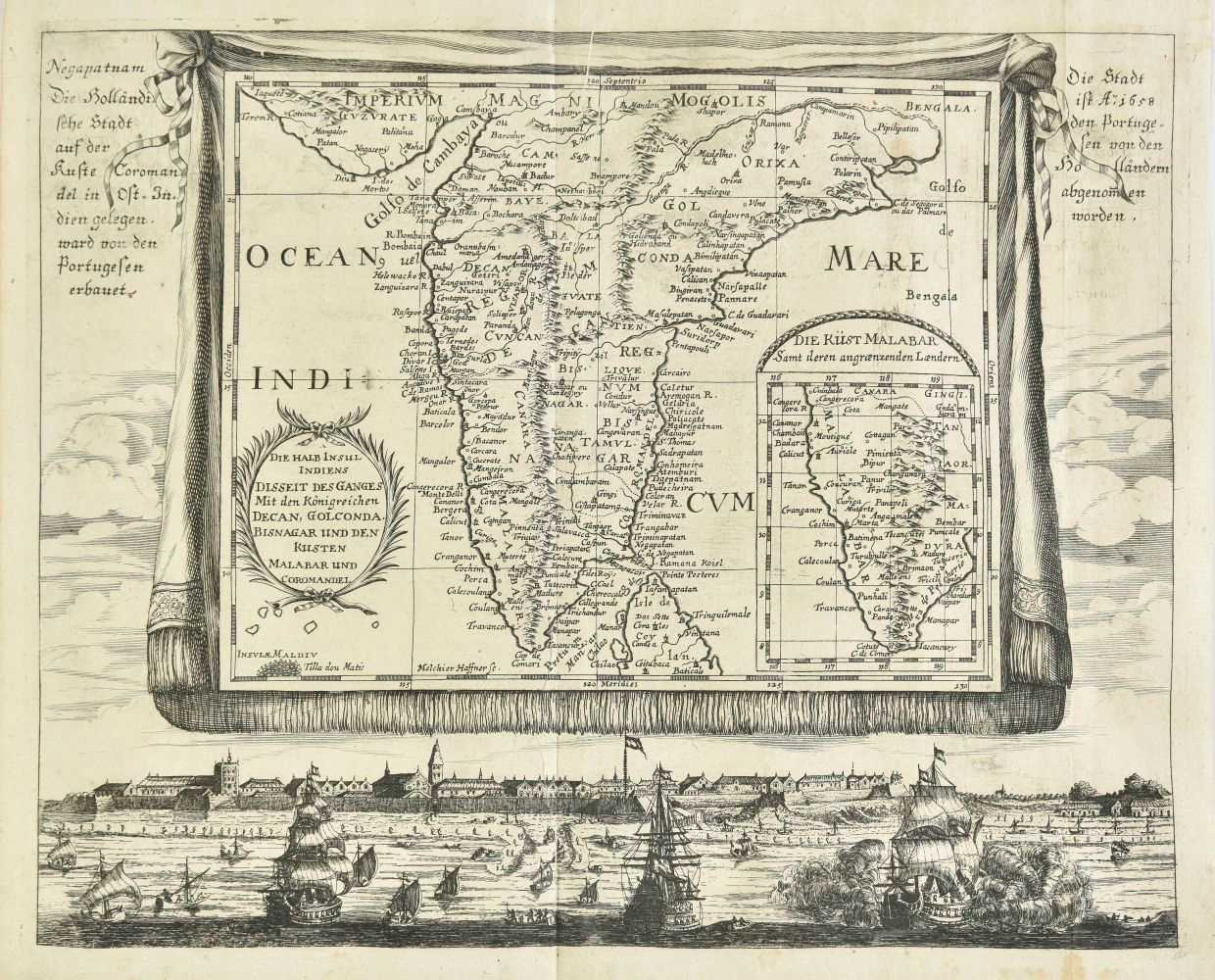 Lot 42-Haffner (Melchior). Five engraved maps, circa 1688