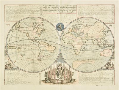 Lot 86 - World. Chatelain (Henry Abraham), Mappe-Monde pour connnoitre..., 1705 or later