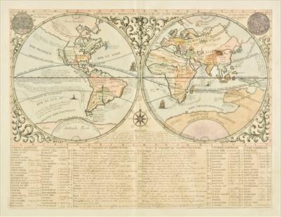 Lot 87 - World. Chatelain (Henry Abraham), Mappemonde..., 1719