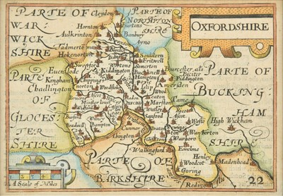 Lot 61 - Oxfordshire Buckinghamshire & Berkshire. A mixed collection of forty-six maps, 17th - 19th century