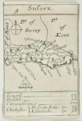 Lot 78 - South- East England. Morden (Robert), Sussex, 'Playing card Map', published H.Turpin. circa 1776