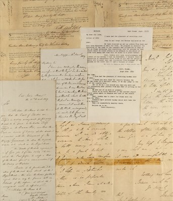 Lot 19 - Dalhousie (James, 1st Marquess of). Two autograph letters on the annexation of Burma, 1852, & others