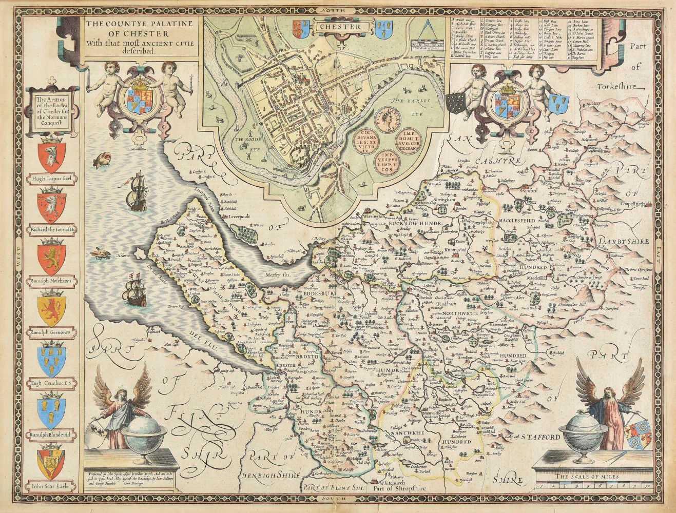 Lot 18-Cheshire. Speed (John), The Countye Palatine of Chester..., 1616