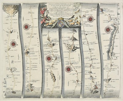 Lot 60 - Ogilby (John). The road from London to Barstable in Devonshire..., 1676 or later