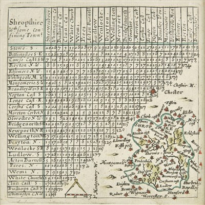 Lot 76 - Shropshire & Staffordshire. A collection of twenty maps, 17th - 19th century