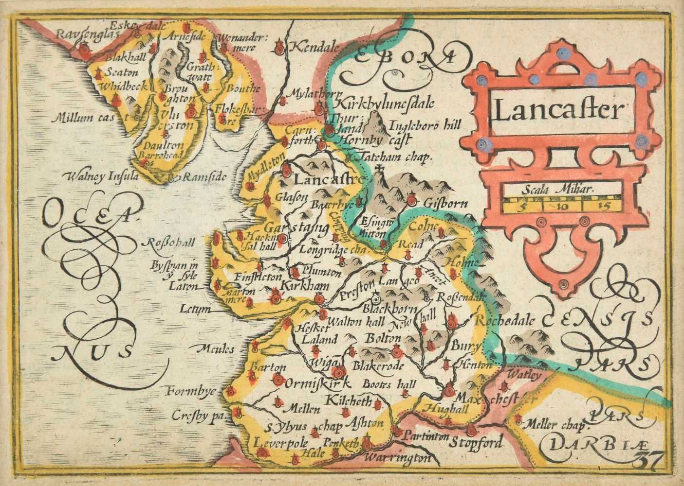 Lot 10 - British county maps. A collection of approximately sixty-five maps, 17th - 19th century