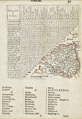 Lot 58 - Northern British counties. A collection of sixteen maps, 17th - 19th century