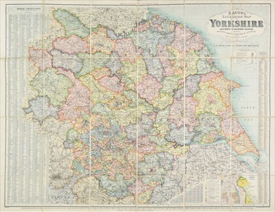 Lot 88 - Yorkshire. A collection of nine folding maps, 19th & early 20th century