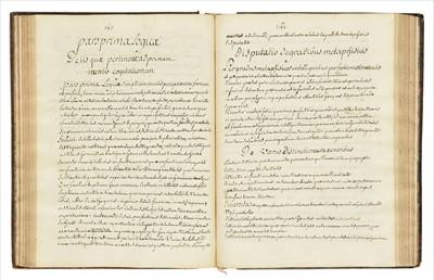 Lot 405 - Philosophy Manuscript. Compendium Philosophiae, unpublished manuscript by Velly, c. early 18th c.