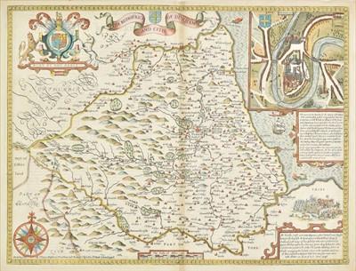 Lot 26 - Durham. Speed (John), The Bishoprick and Citie of Durham, 1676