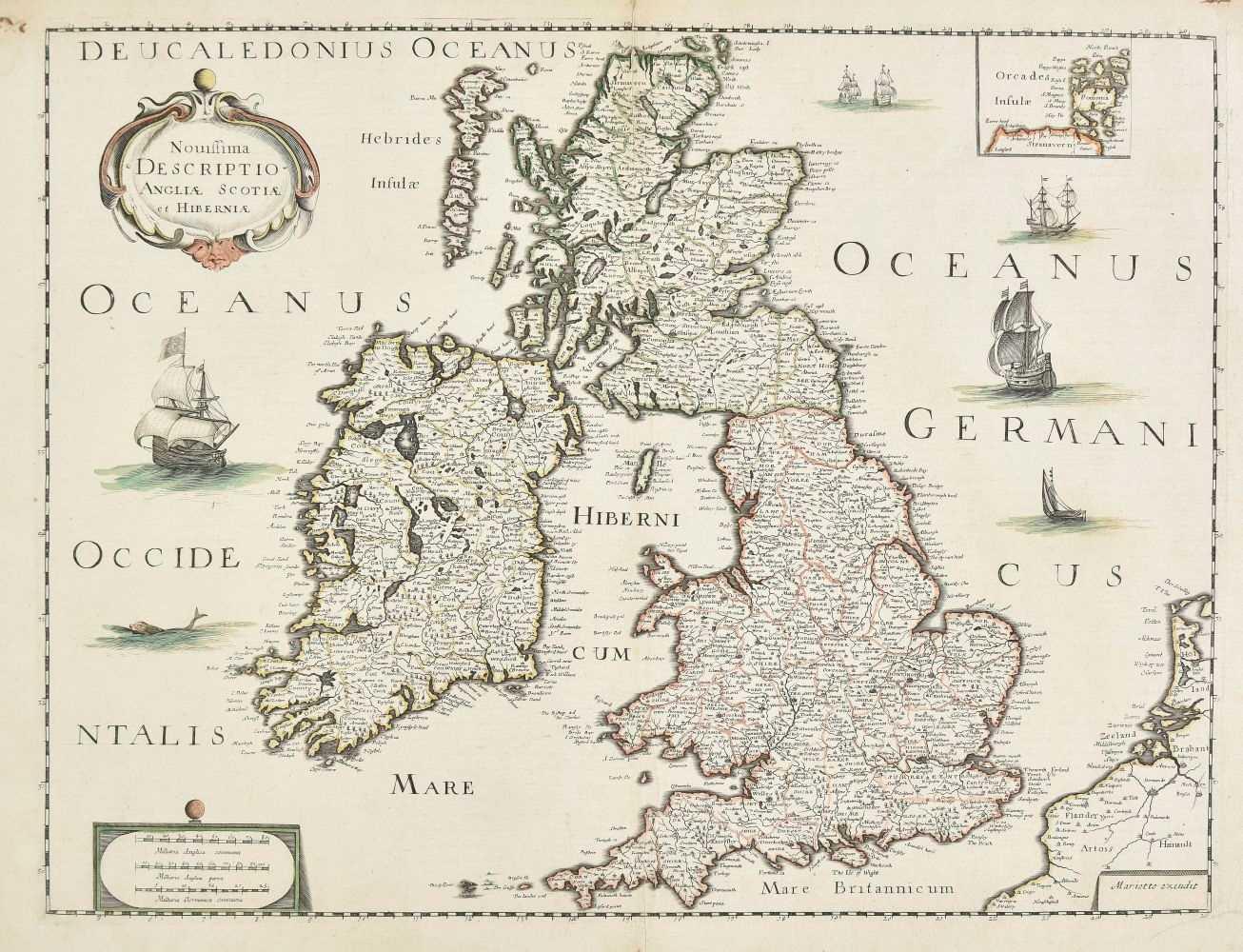 Lot 13-British Isles. Mariette (Pierre), Novissima Descriptio Angliae, Scotiae et Hiberniae, circa 1650