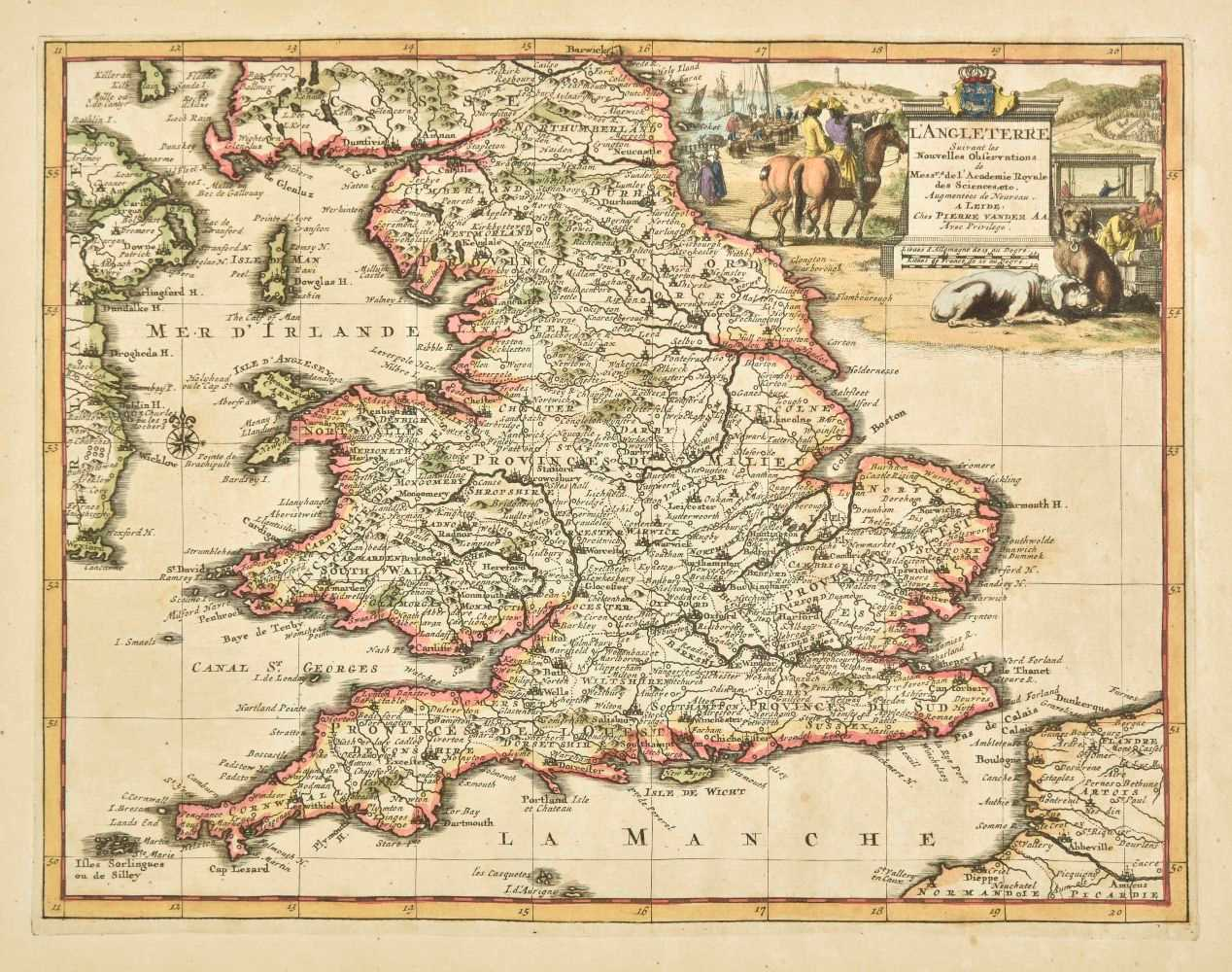 Lot 29-England & Wales. A collection of ten maps, mostly 18th century