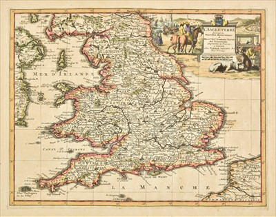 Lot 29 - England & Wales. A collection of ten maps, mostly 18th century