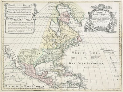 Lot 57 - North America. Lotter (Tobias), America Septentrionalis..., circa 1770