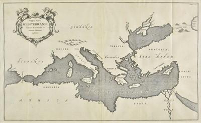 Lot 55 - Mediterranean Sea. Kircher (Athanasius), Mappa Maris Mediterranei..., circa 1680