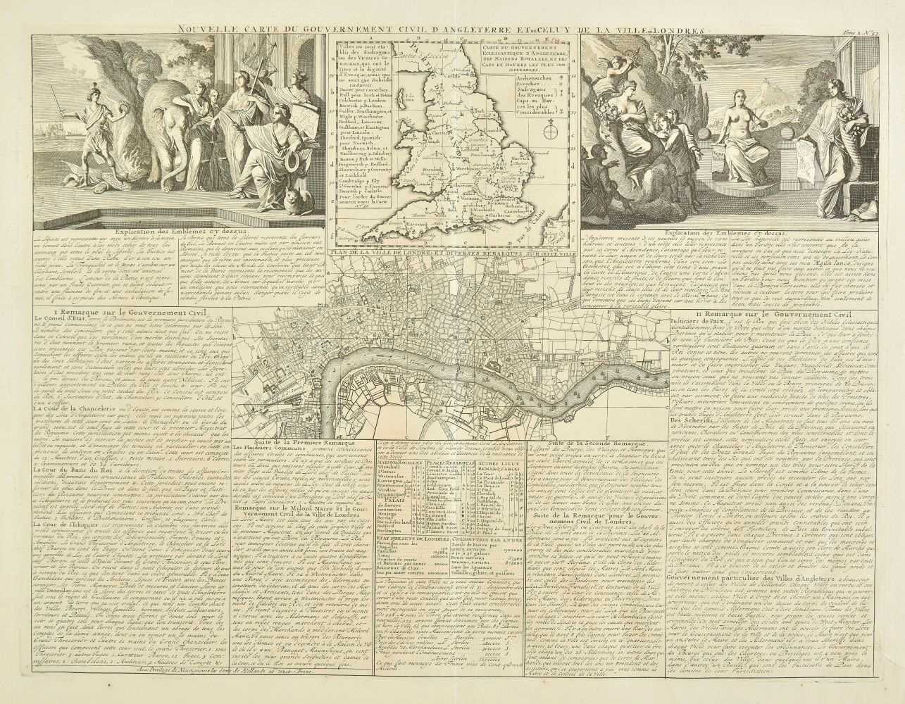 Lot 31-England & Wales. Chatelain (Henry Abraham), Three engraved maps, circa 1720