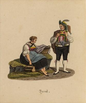 Lot 577 - Swiss costume. Collection des costumes de la Suisse et de ses pays limitrophes, circa 1820