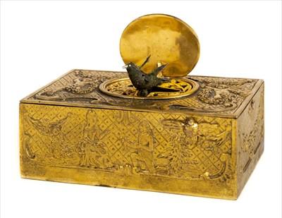 Lot 39-Automaton. A 20th century French automaton bird musical box