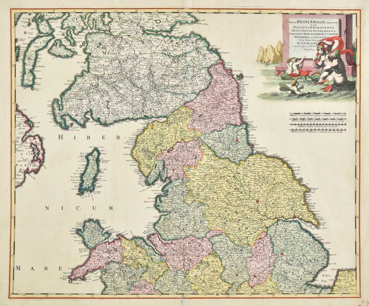 Lot 32-England & Wales. De Wit (Frederick), Three maps of England & Wales, circa 1680