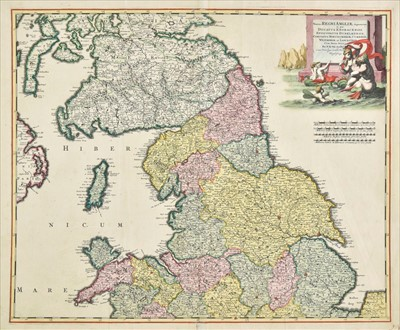 Lot 32 - England & Wales. De Wit (Frederick), Three maps of England & Wales, circa 1680