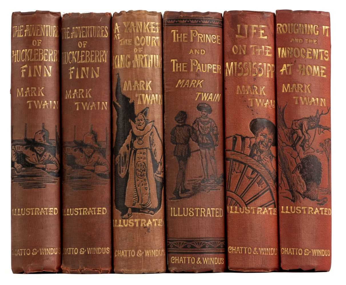 Lot 535-Twain (Mark). The Adventures of Huckleberry Finn, 1st edition, 1884, & others