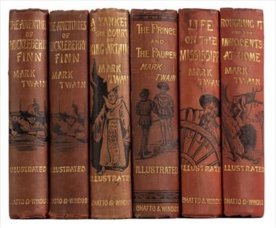 Lot 535 - Twain (Mark). The Adventures of Huckleberry Finn, 1st edition, 1884, & others