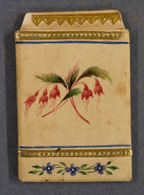 Lot 553-Straw work. A pocket book, early 19th century