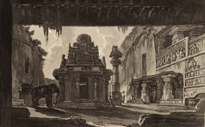 Lot 20 - Daniell (Thomas & William). Hindoo Excavations in the Mountain of Ellora, 1816