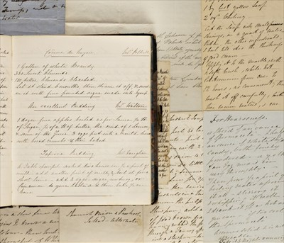Lot 228 - Manuscript Cookery Book. A mid 19th century recipe book