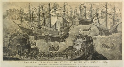 Lot 28-Basire (James, 1730-1802). The Embarkation of King Henry VIII at Dover, 1781 but 20th century