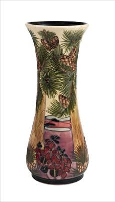 Lot 13-Moorcroft. A Moorcroft pottery 'Furzey Hill' pattern vase