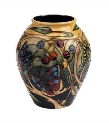 Lot 17-Moorcroft. A Moorcroft pottery 'Hartgring' vase